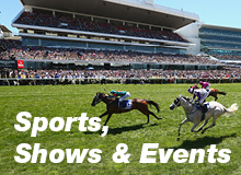 Sports, Shows and Events