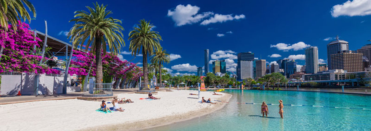 The beach at South Bank Parklands