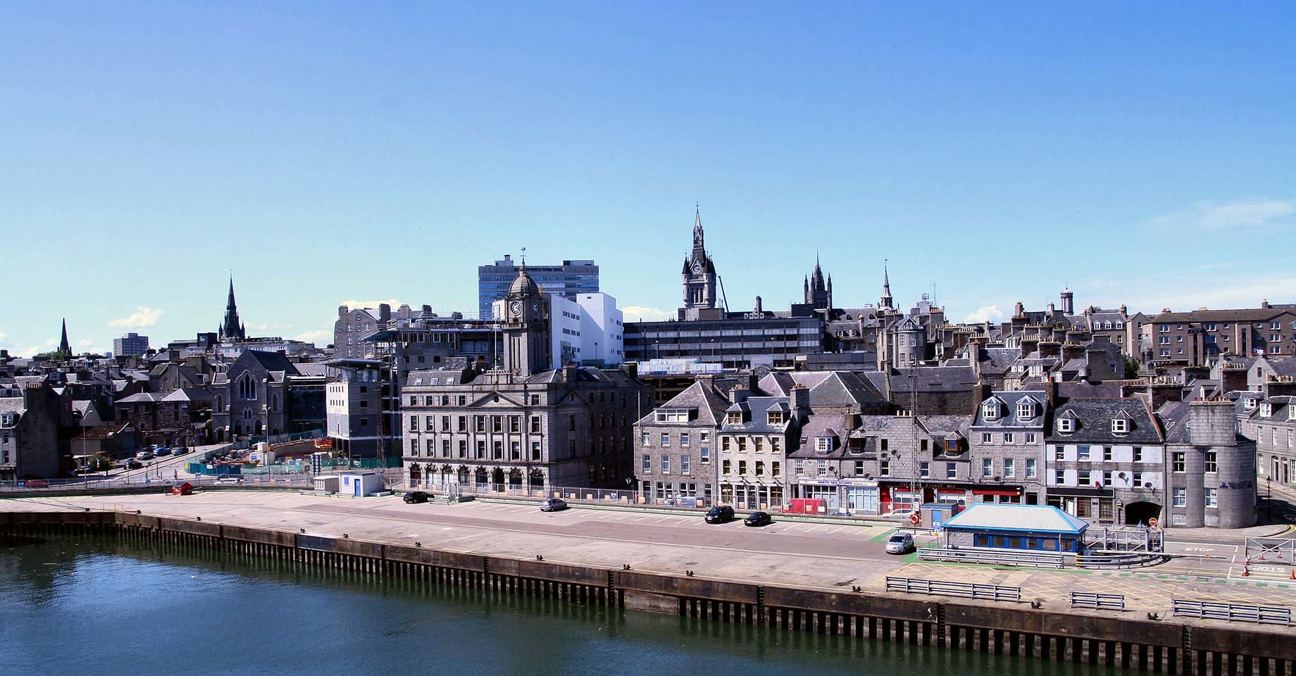 A view of Aberdeen city from the port