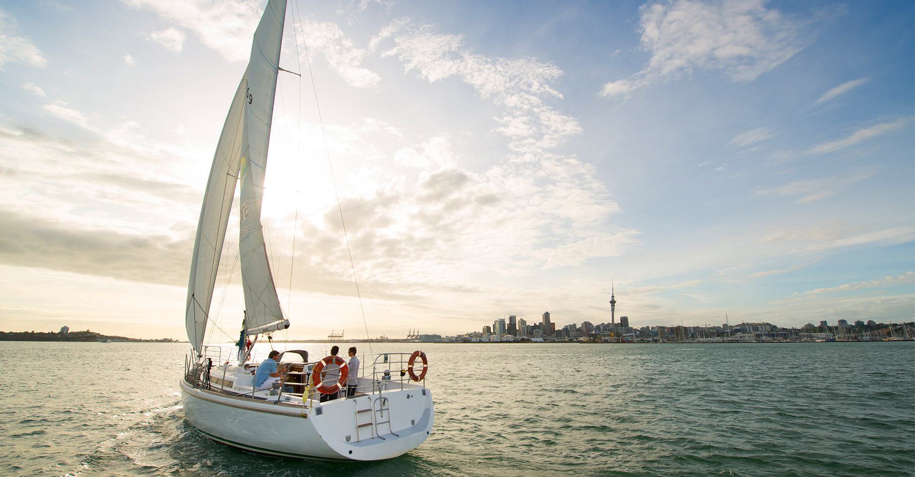 Sailing on Auckland Harbour