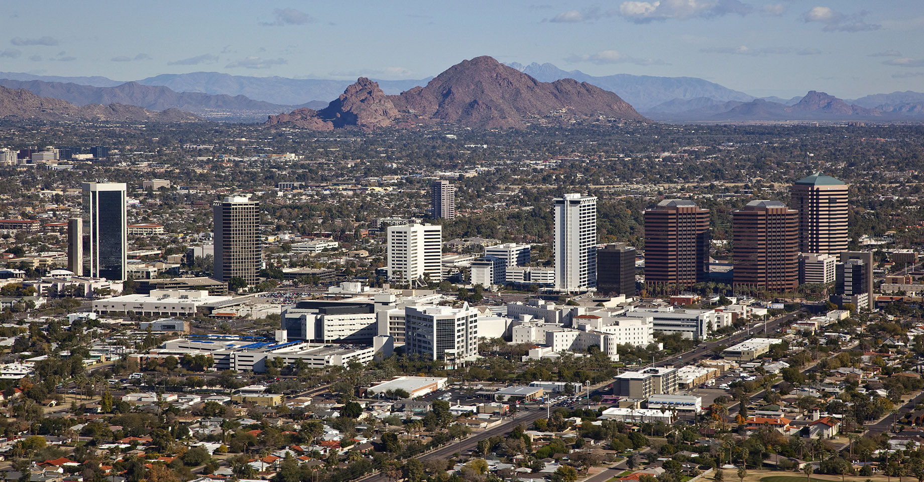 Arizona, Phoenix City Aerial