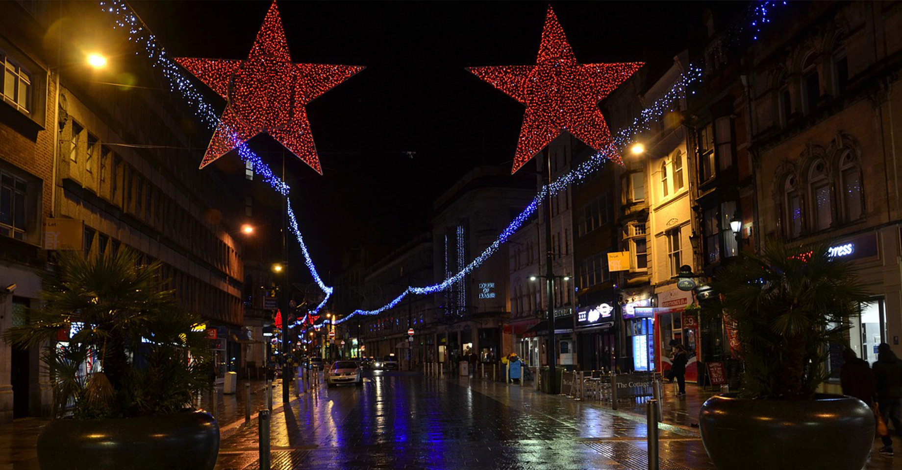 Cardiff High Street at Night