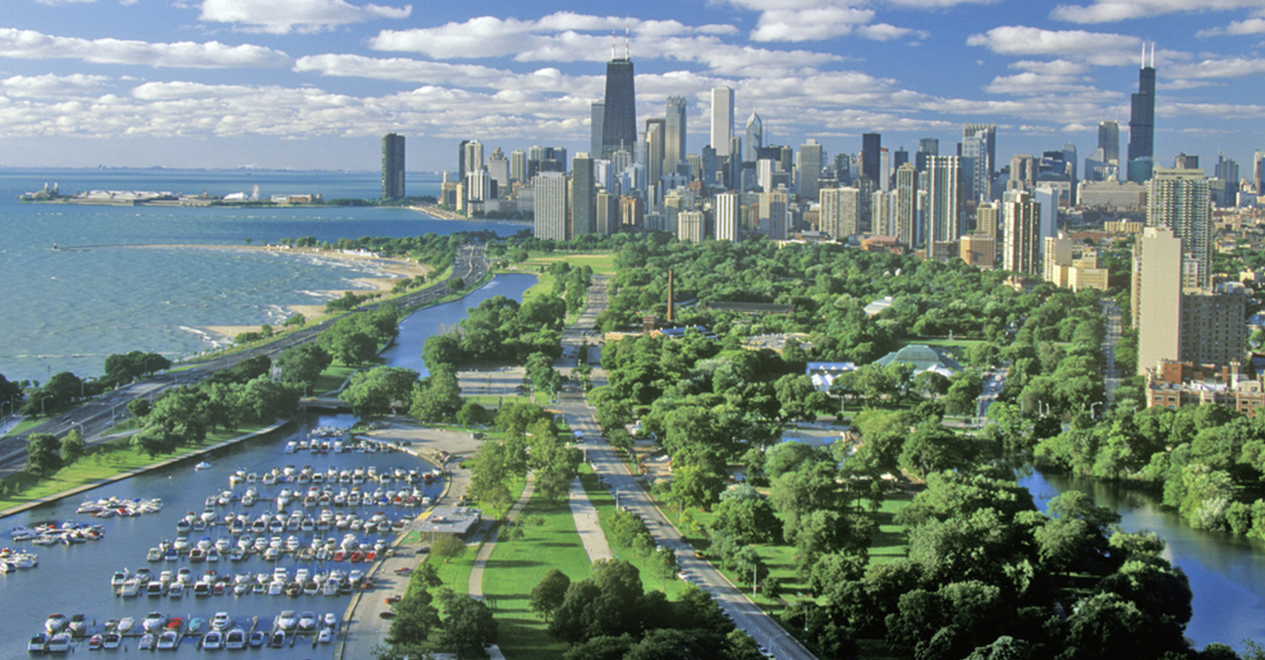Aerial shot of Chicago