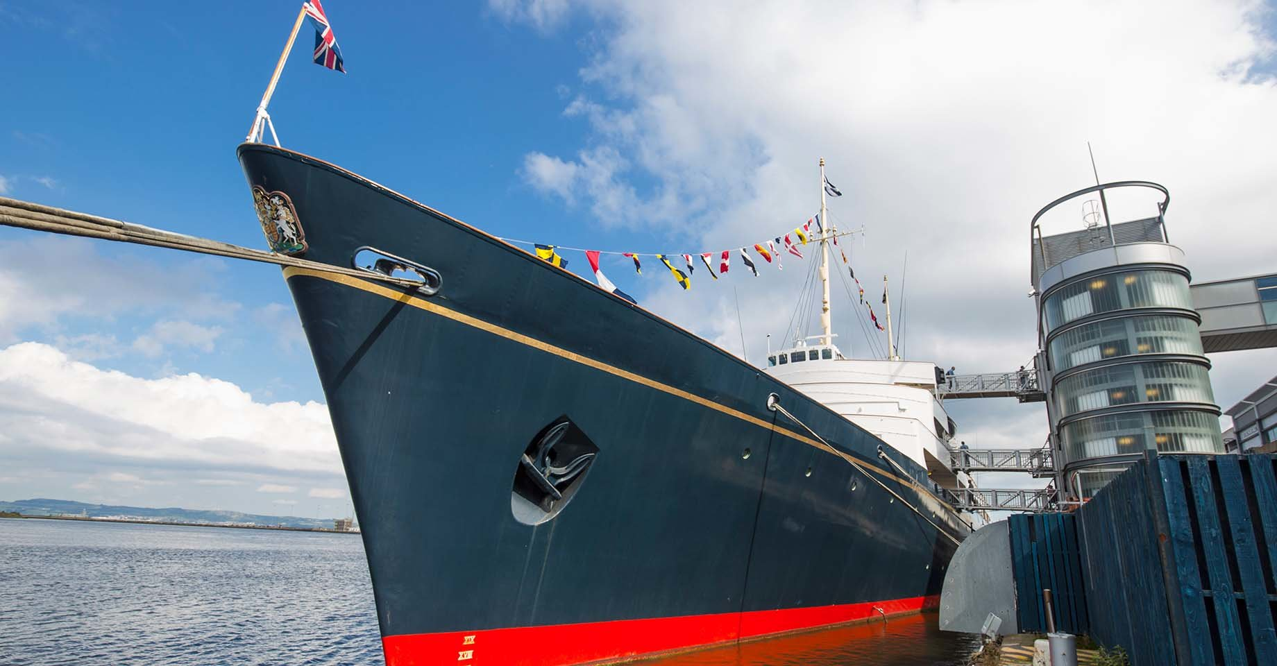 The Royal Yacht, Britannia, one of the world's most famous ships