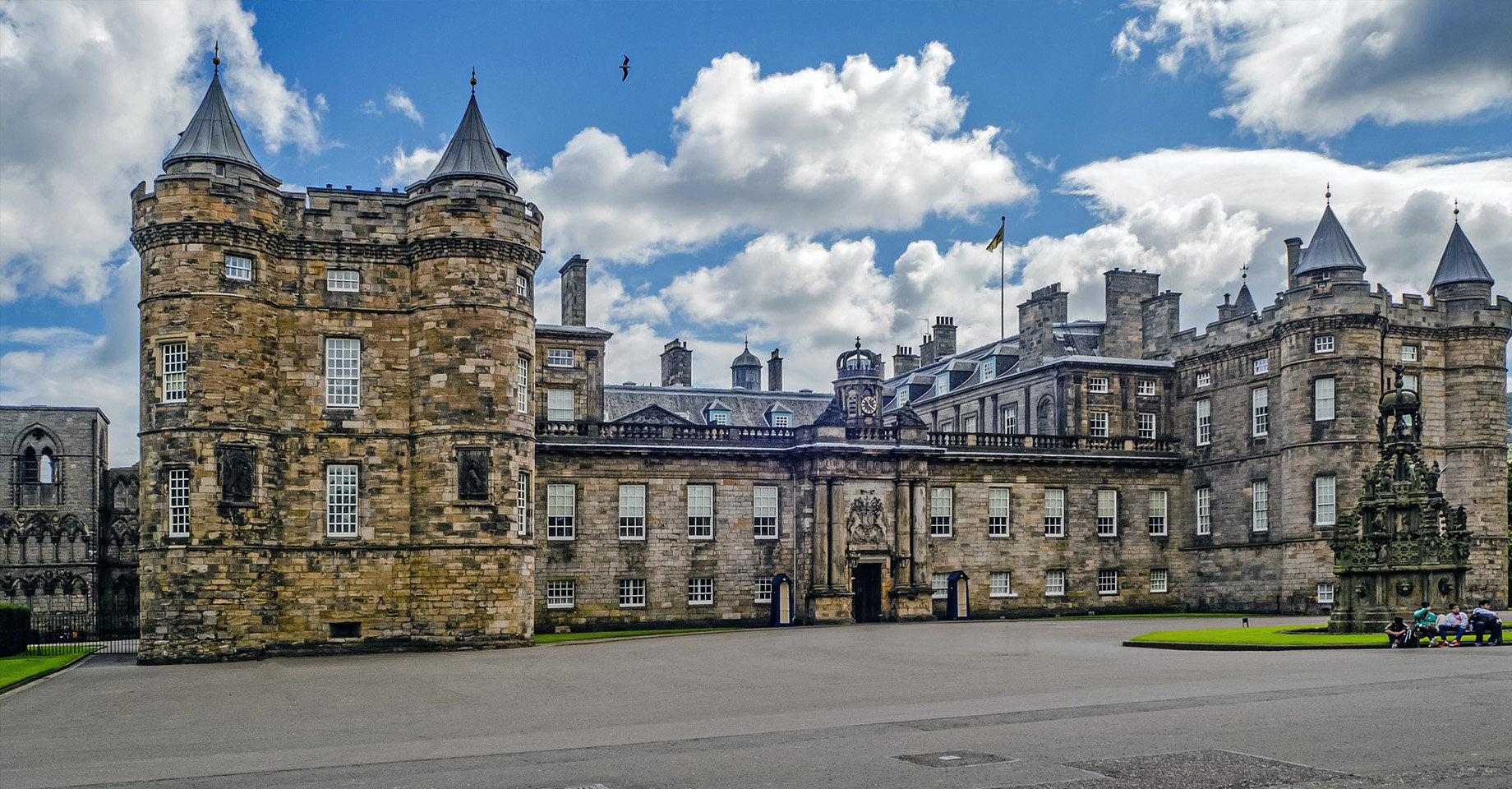 The Palace of Holyroodhouse is the official residence of the Monarchy in Scotland