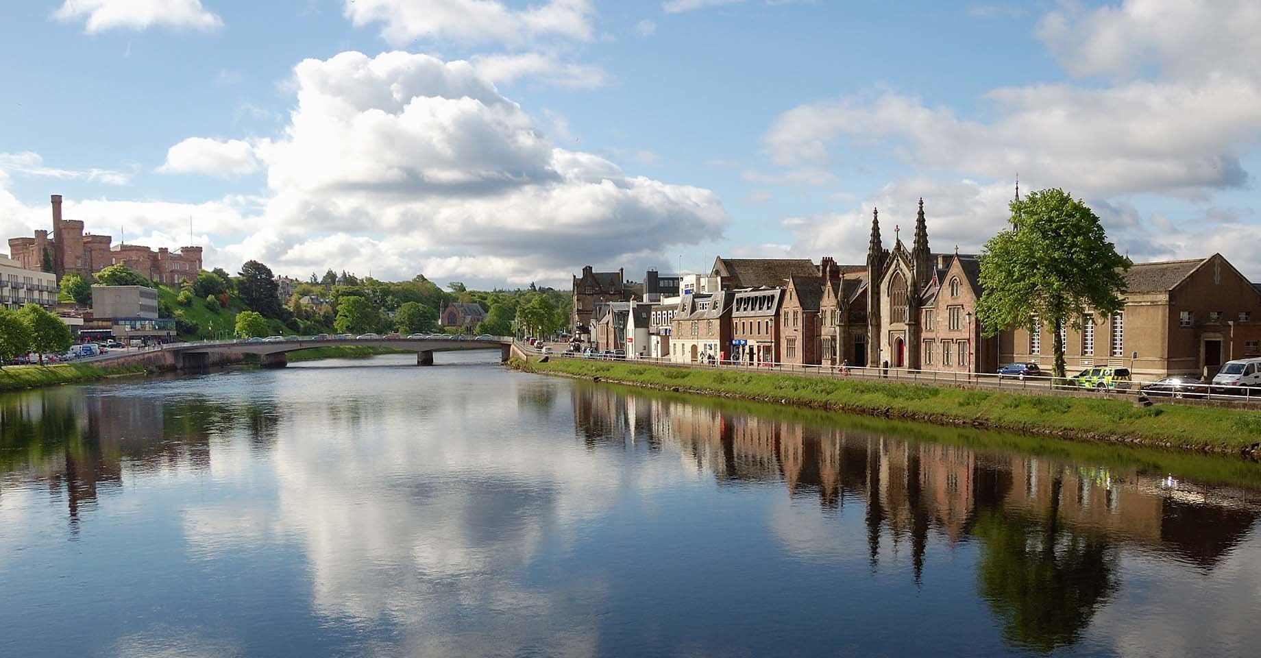 The city of Inverness on the River Ness