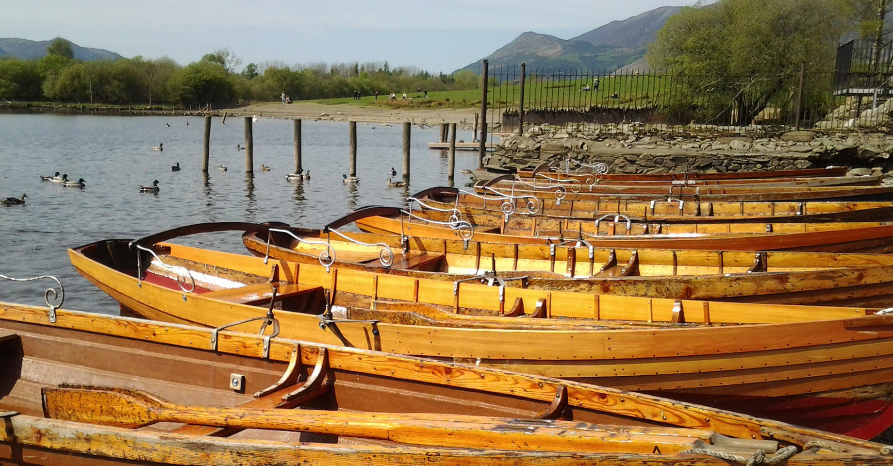 Row boats in the Lakes District