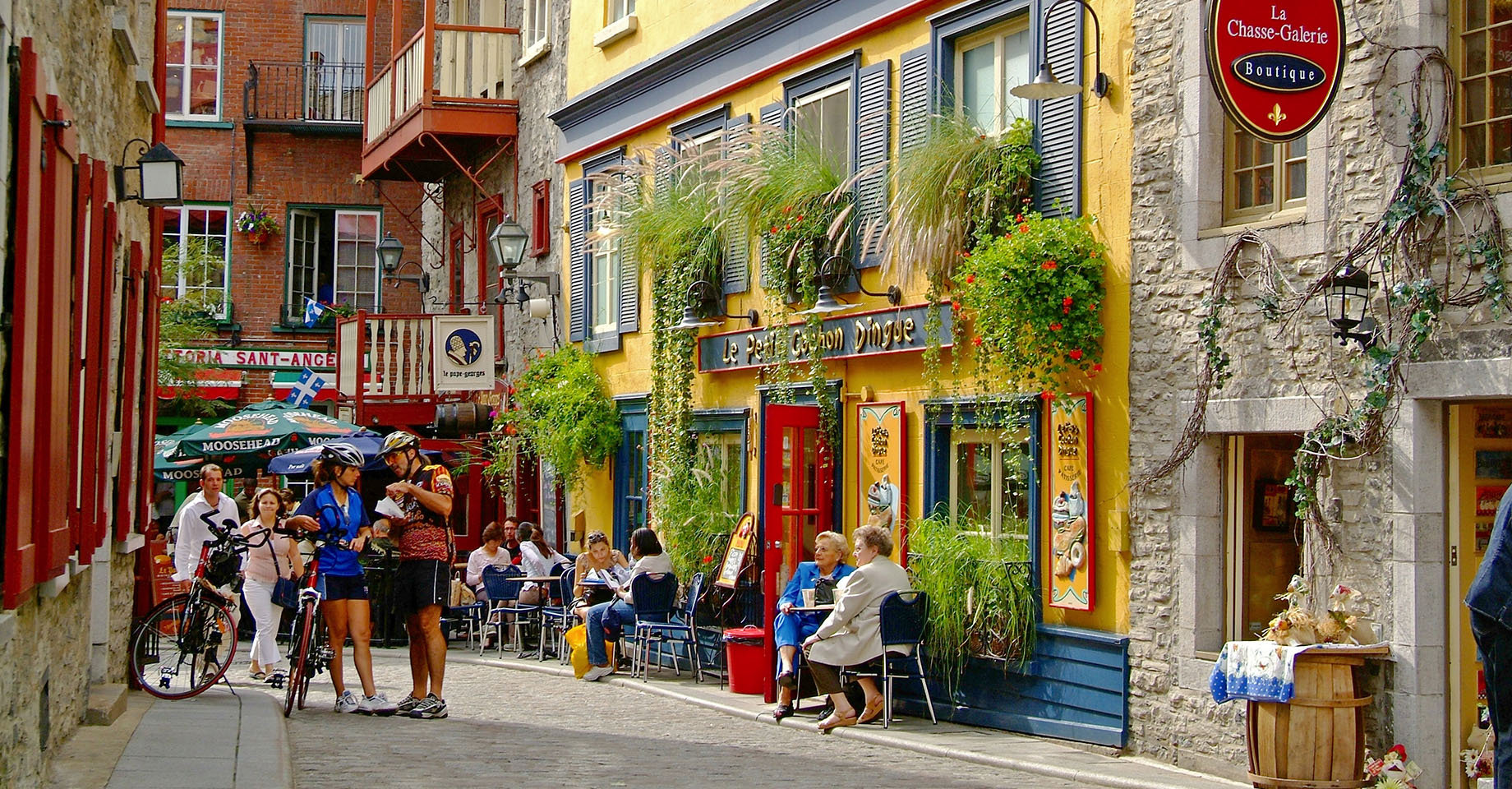 An Old Quebec cobble-stone street