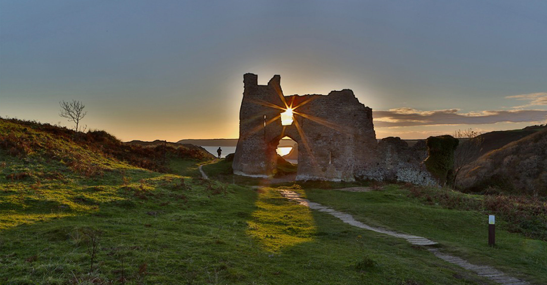 Pennard Castle in Swansea