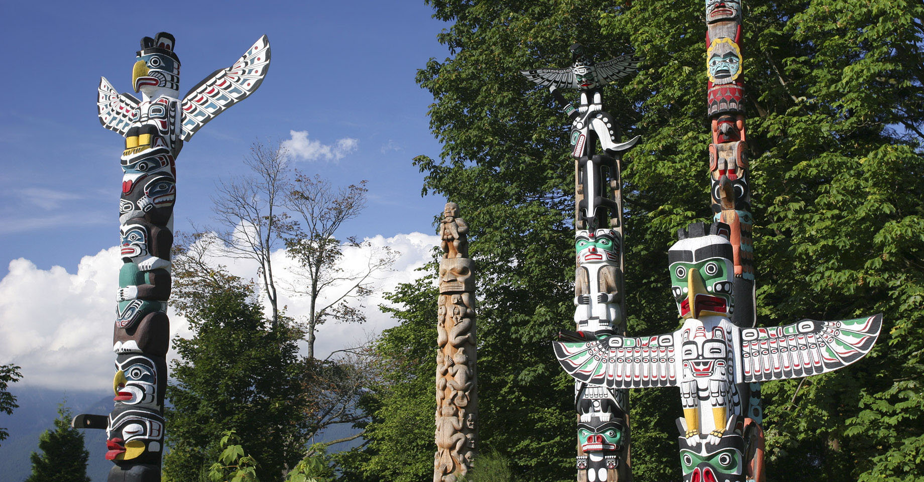 Totem Poles at Brockton Point in Stanley Park, Vancouver