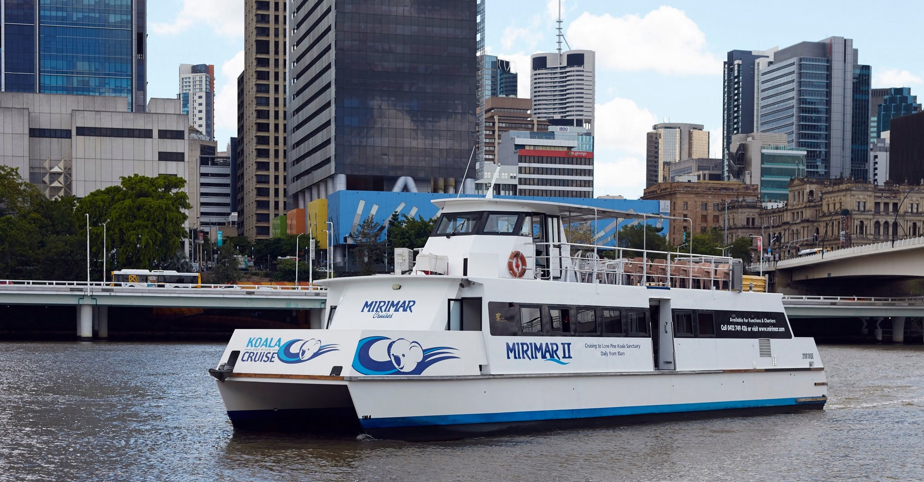 Cruise on the Brisbane River to Lone Pine Koala Sanctuary