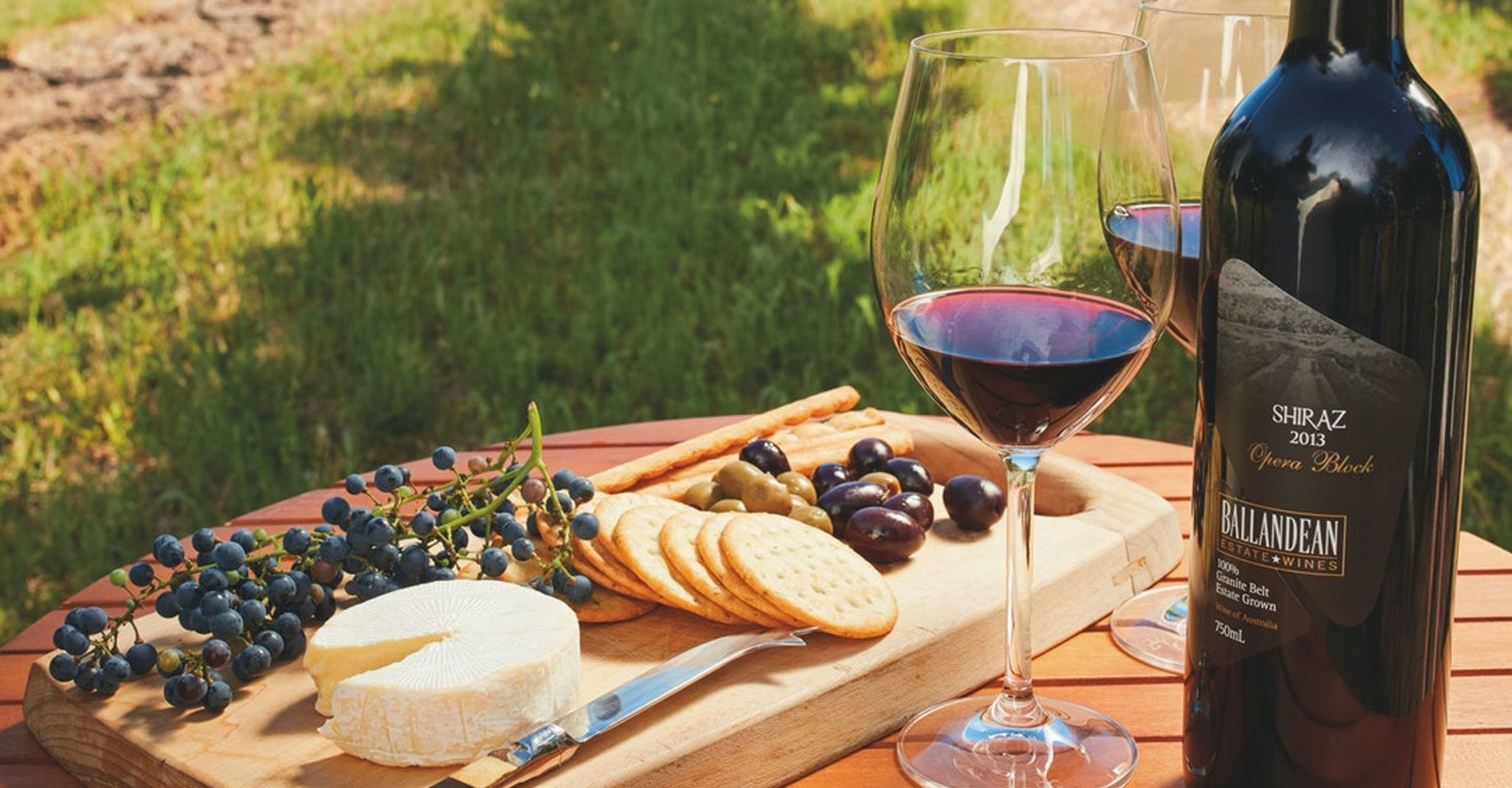 A cheese platter on a winery tour