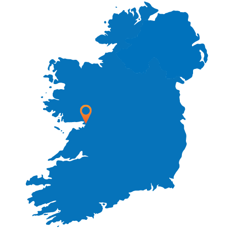 Map of Ireland showing Galway
