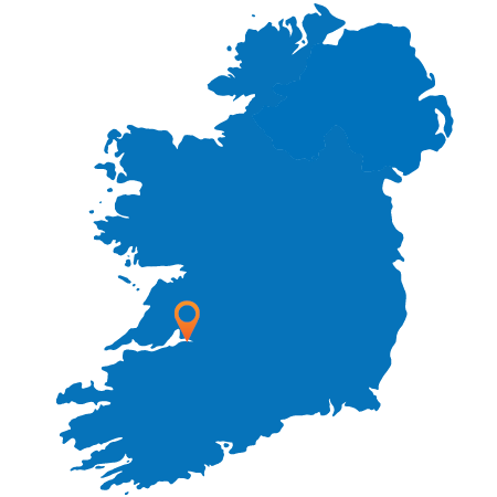 Map of Ireland showing Limerick