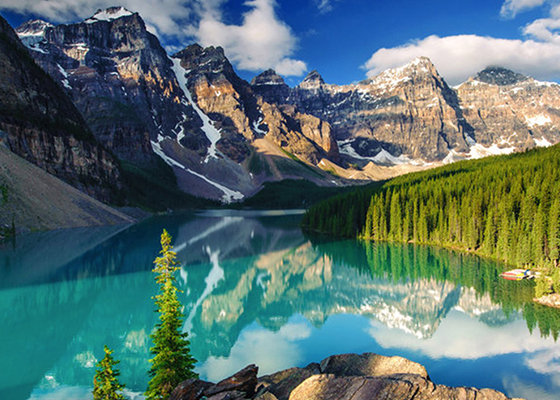 Moraine Lake in The Rocky Mountains, Alberta