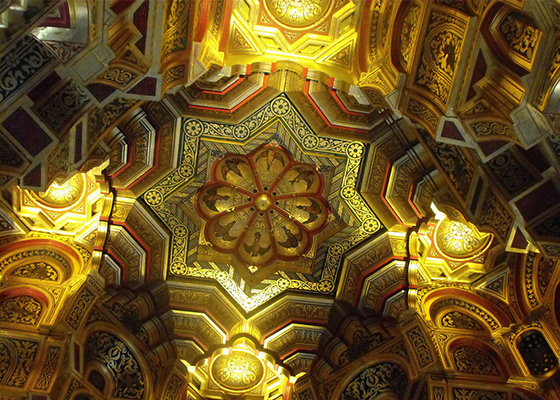 The ornate ceiling at Cardiff Castle