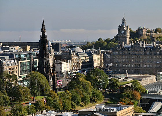 Edinburgh New Town, with the Scott Monument in the foreground