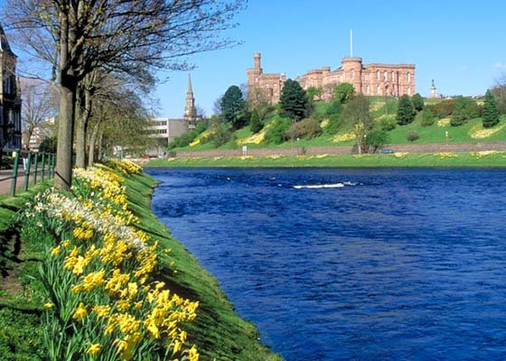 Inverness Castle overlooking the River Ness