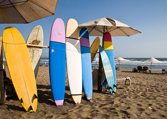 Surf boards on Kuta beach