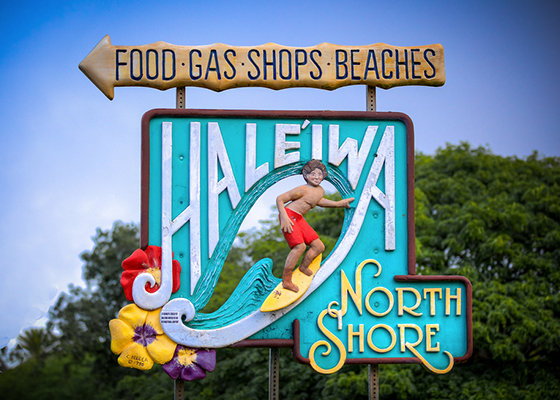 North Shore Hawaii Sign