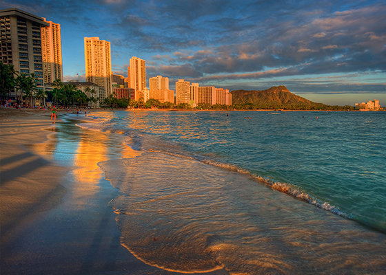 Sunrise on Waikiki Beach