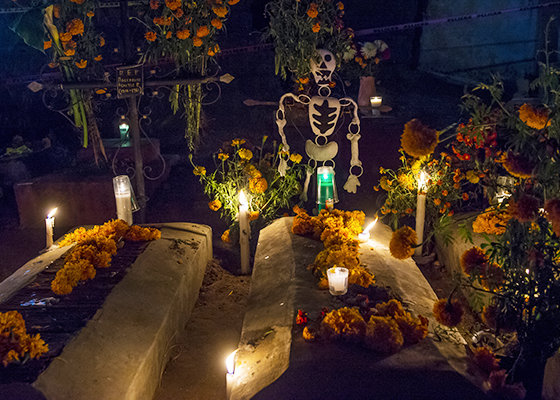Oaxaca Day Of The Dead Cemetery