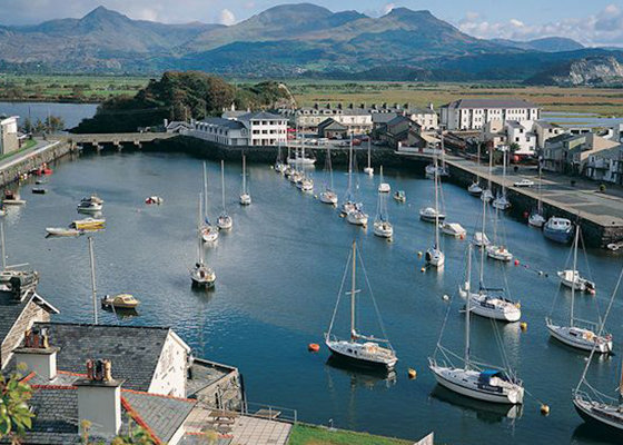 The seaside town of Porthmadog