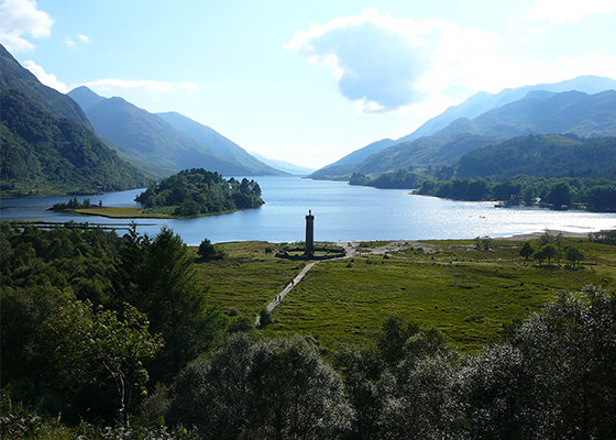 Glenfinnan Monument on Loch Shiel