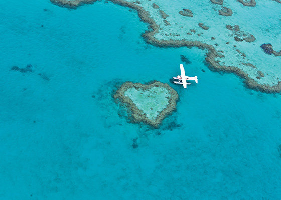 Heart Reef in the beautiful Whitsundays