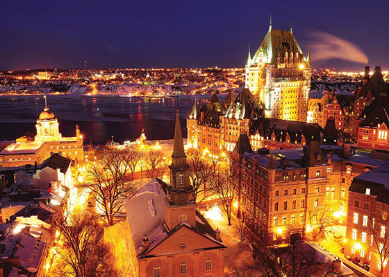 Winter evening in Old Quebec