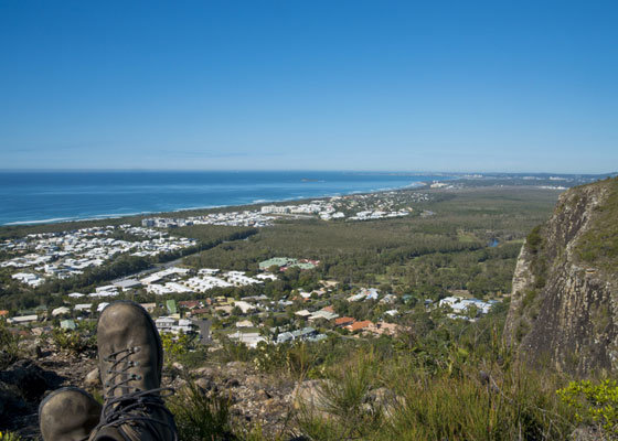 View of the Sunshine Coast