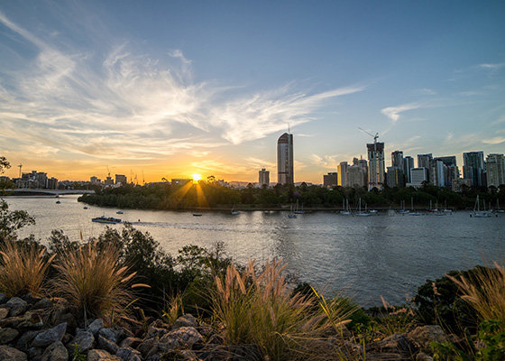 Views of Brisbane city